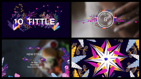 Videohive Modern Floral Pack 20192246