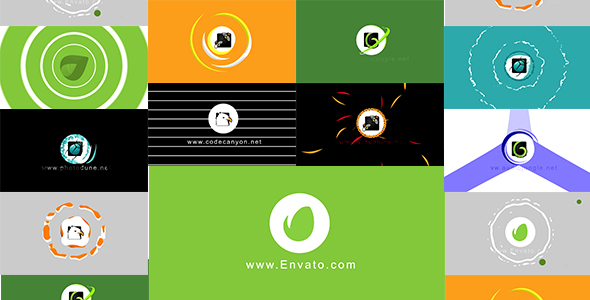 Videohive 10 Circle Logo Pack