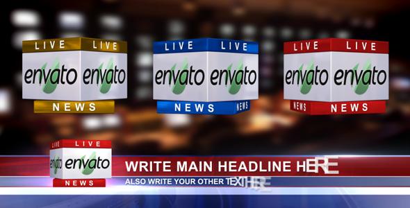 Videohive 3D News Logo Lower 235086