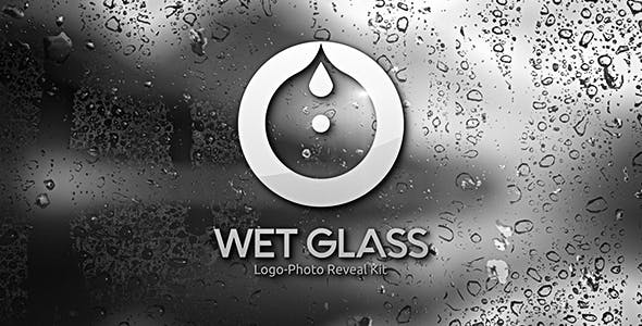 Videohive Wet Glass Logo Photo Reveal Kit 20144582