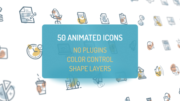 Videohive Animated Flat Icons 22324112
