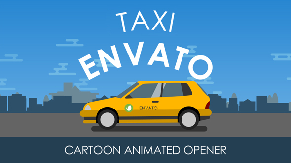 Videohive Animated Taxi Opener 19549140