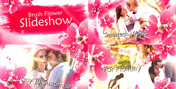 Videohive Brush Flower Slideshow 13156131