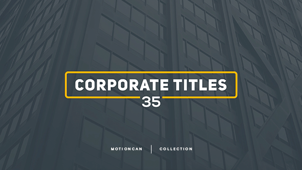Videohive Corporate Titles 17448480