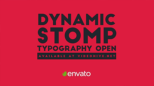 Videohive Dynamic Stomp Typography Open 19994003