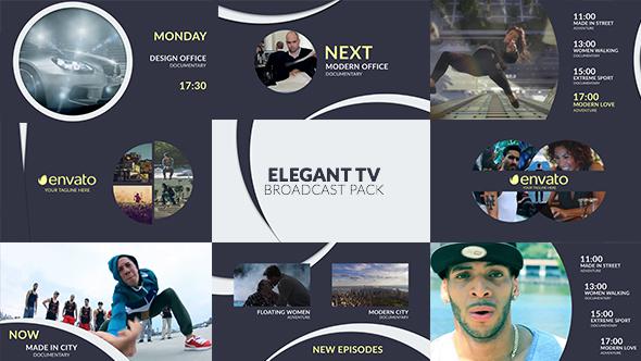 Videohive Elegant TV - Full Broadcast Pack 17997456