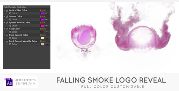 Videohive Falling Smoke Logo 21438471