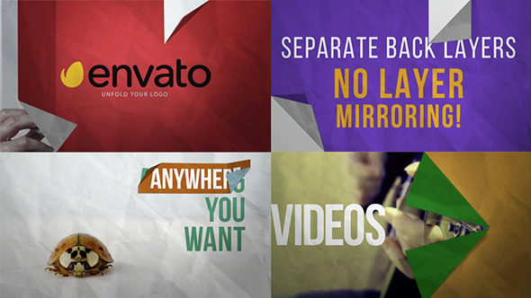 Videohive Folding Unfolding Logo Artwork Reveal Pack 14898941
