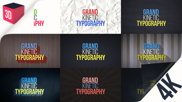 Videohive Grand Kinetic Typography 17124183