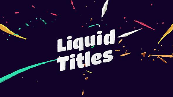 Videohive Liquid Animation Titles 12726610