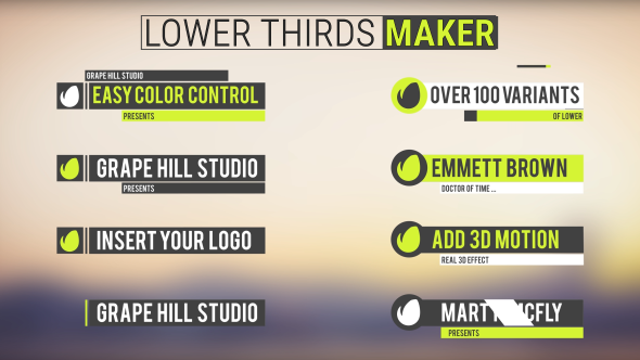 Videohive Lower Thirds Maker 18189779