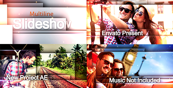 Videohive Multiline Slideshow
