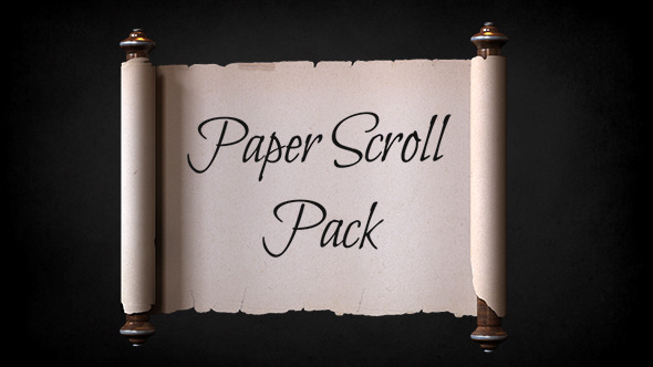 Videohive Paper Scroll Pack Template 11892029