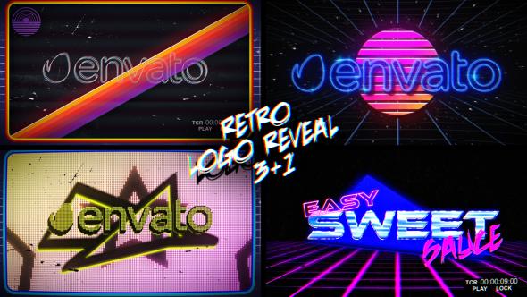 Videohive Retro Logo Reveal Pack V2 19513192