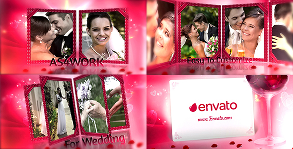 Videohive Romantic Rose Slide