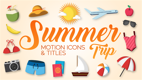 Videohive Summer Trip - Motion Icons Titles 19806718