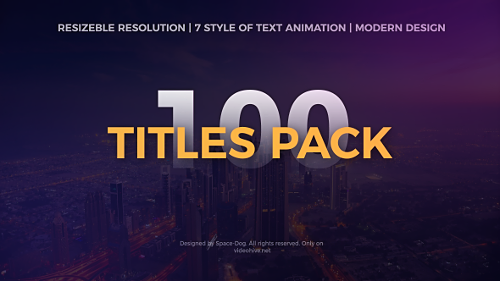 Videohive The Titles Pack 20211743