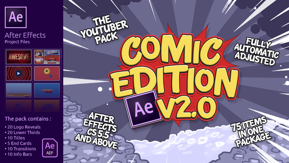 Videohive The YouTuber Pack - Comic Edition V2.0 16575265