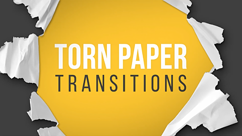 Videohive Torn Paper Transitions Reveal Pack 14472945