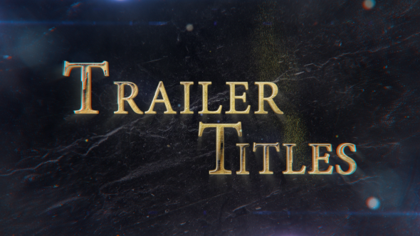 Videohive Trailer Titles 21448331