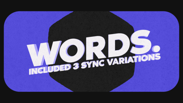Videohive Words Stomp 22685570