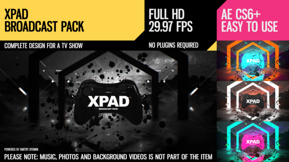 Videohive XPaD (Broadcast Pack) 21853357