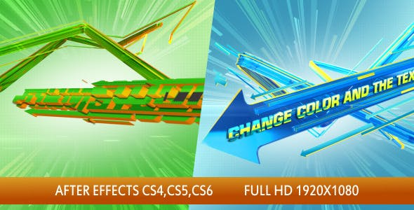 Videohive 3D Arrows Logo Intro 3460424
