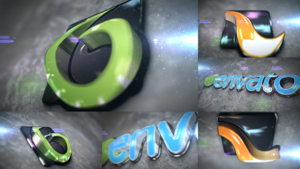 Videohive 3D Curved Glossy Extrude Logo 20792351