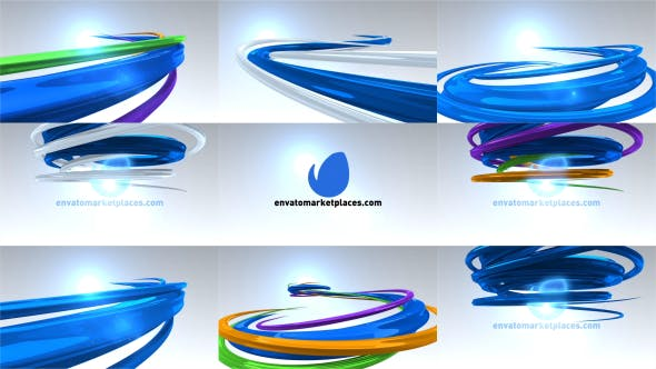 Videohive 3D Lines Logo Reveal 7492601