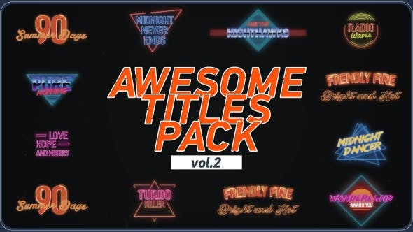 Videohive Awesome Title Pack 2 18770923