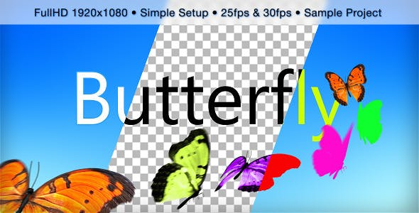 Videohive Butterfly 9199436