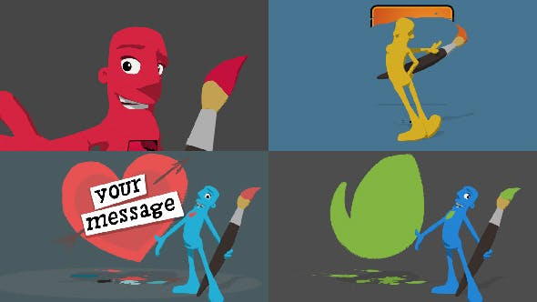 Videohive Character Paint On Logo Reveal 6617896