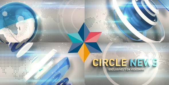 Videohive Circle News Opener 8372425