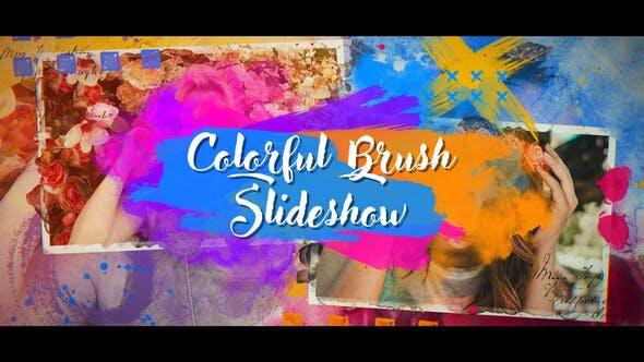 Videohive Colorful Brush Slideshow 23601100