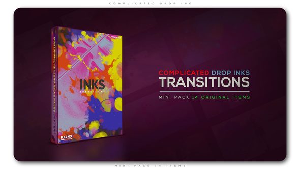 Videohive Complicated Drop Ink Transition Pack 21653435
