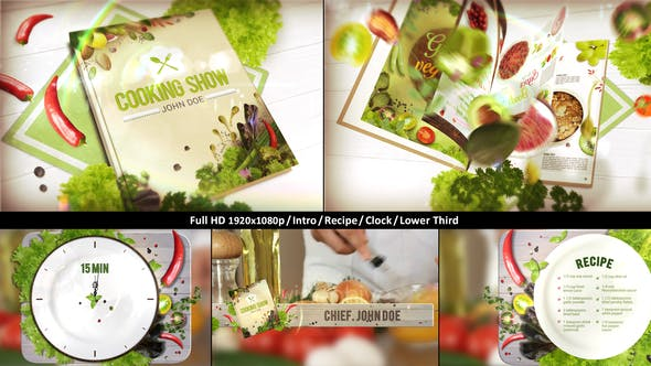 Videohive Cooking TV Show Pack Journal 22751769