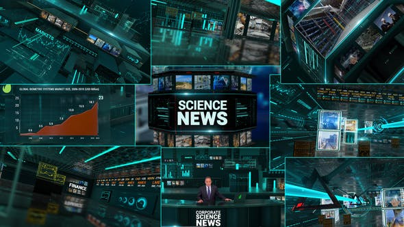 Videohive Corporate Economics Science News Broadcast Full Package 23927140