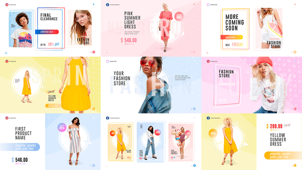 Videohive Fashion Store Pack 22383769