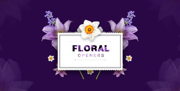 Videohive Floral Openers Live Flovers Wedding Titles 10520723