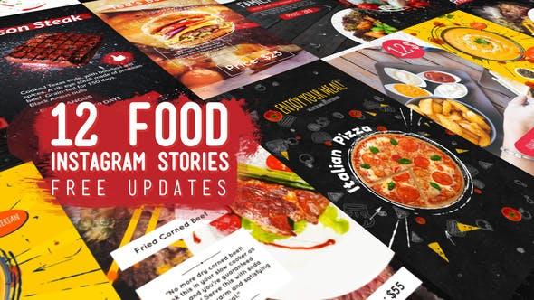 Videohive Food Instagram Stories Pack 23022716