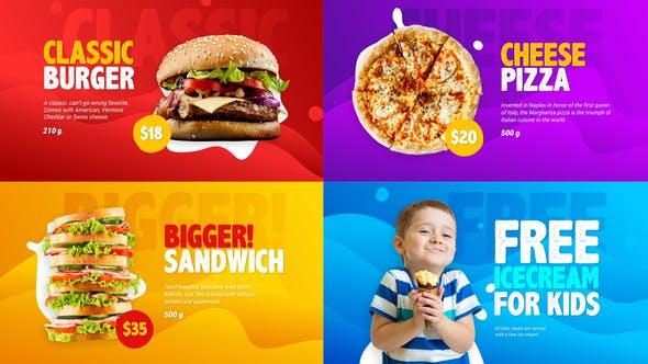 Videohive Food Menu Promo 21986286