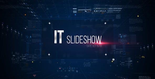 Videohive IT Slideshow Digital HUD Slide 11184463