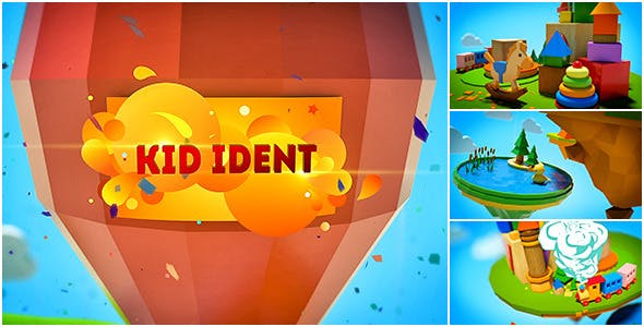 Videohive Kids Show Ident Broadcast Package 8839798