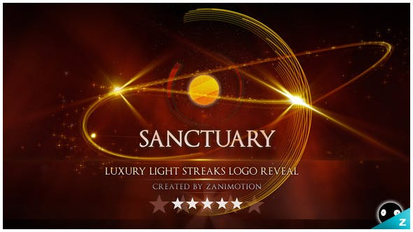 Videohive Luxury Light Streaks Logo Reveal 718924