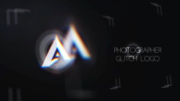 Videohive Minimal Photographer Glitch Logo 25752845