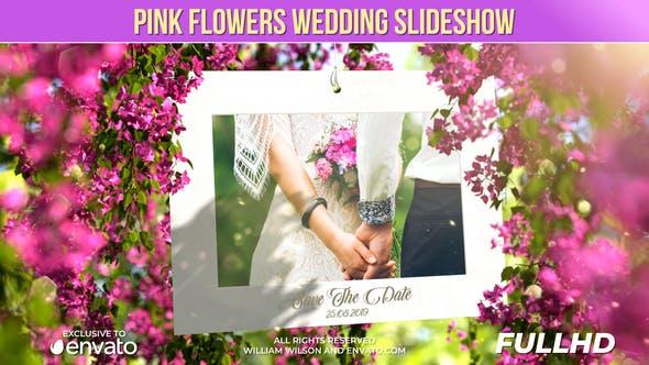 Videohive Pink Flowers Wedding Slideshow 24535054