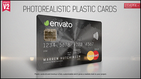 Videohive Plastic Cards Creator and Mockup 20931919
