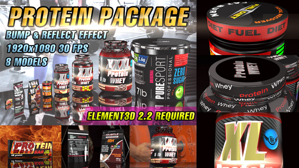Videohive Protein Package Template 16597366