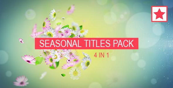 Videohive Seasonal Titles Pack 14374768