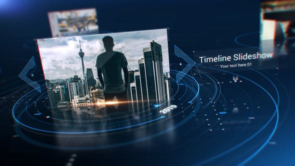 Videohive Technology Circle Timeline Slideshow 24580197